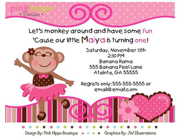 Monkey girl birthday invitations images invitation templates free monkey girl birthday invitations image collections baby shower 33 best gs first birthday images on pinterest filmwisefo