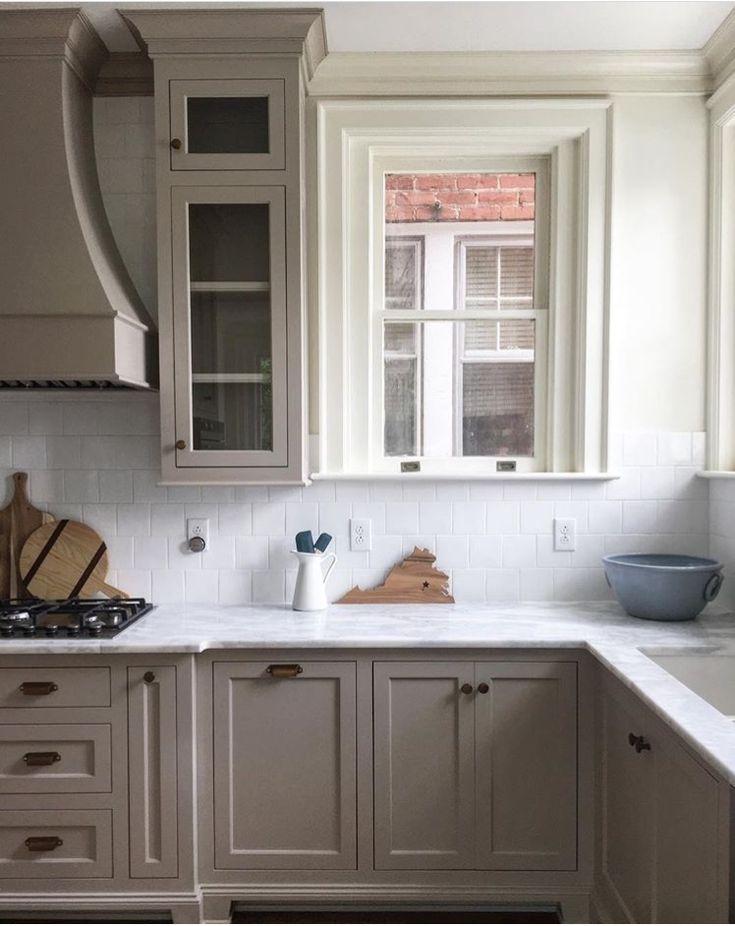 Hanover Avenue kitchen. Sherwin Williams balanced beige ...