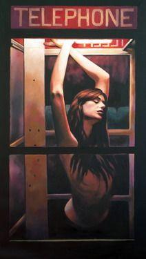 "Saatchi Online Artist thomas saliot; Painting, ""Phone booth"" #art"