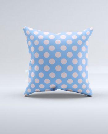 Blue Rose Dot Pillow