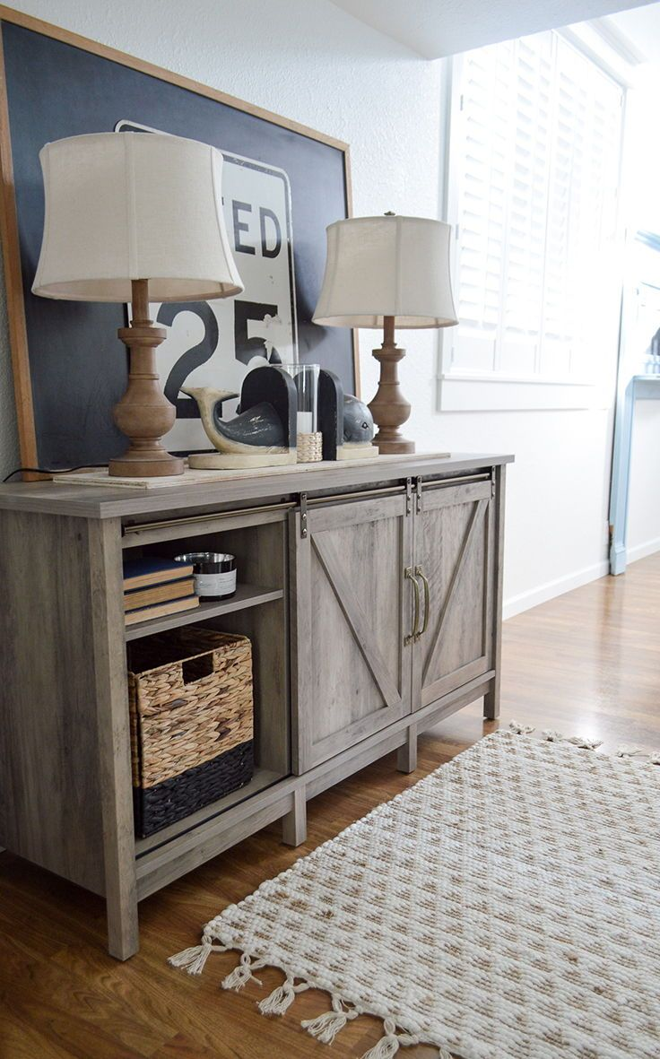 Better Homes Gardens Modern Farmhouse Tv Stand For Tvs Up To 70 Rustic Gray Finish Walmart Com In 2020 Farmhouse Tv Stand Tv Stand Decor Farm House Living Room