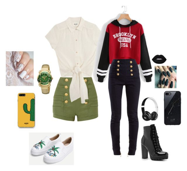 """""""nr. 4"""" by patriivasca on Polyvore featuring Pierre Balmain, Roberto Cavalli, WithChic, Balmain, Boohoo, Beats by Dr. Dre and Sefton"""