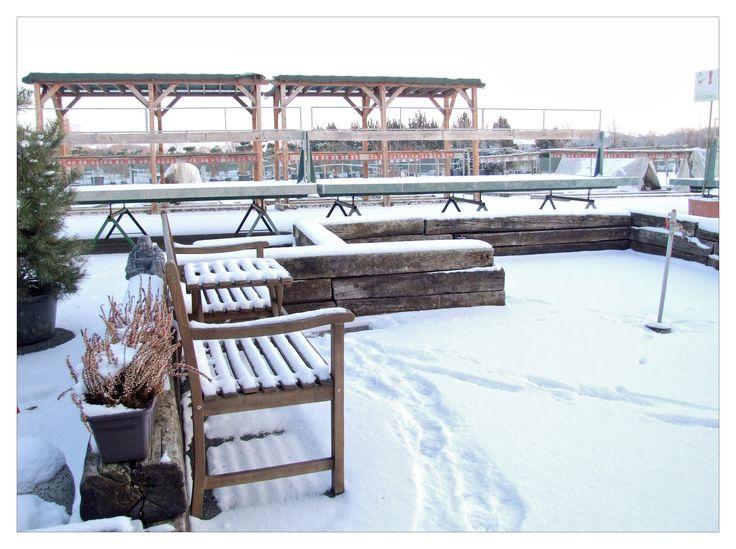 STARKLova zahrada v zimním spánku. Zahradní centrum bude znovu otevřeno od března - nyní probíhá zasloužená dovolená..
