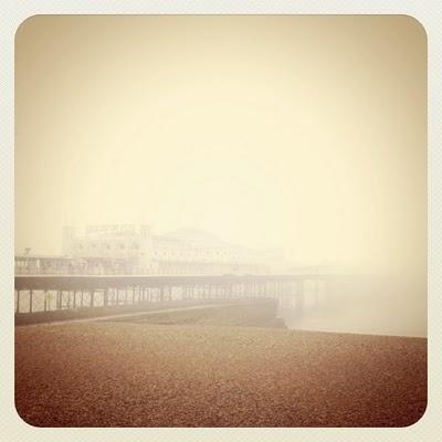 English seaside in the autumn