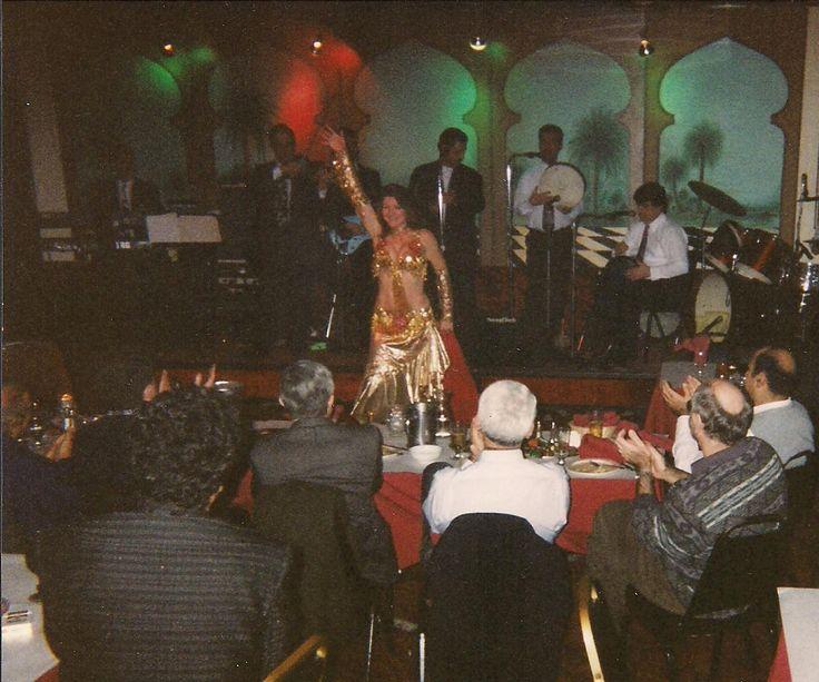 Jasmin Jahal at Chicago's Al Khayam nightclub ca. 1998
