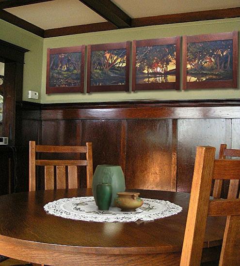Jan schmuckal splendour of ended day framed originals - Arts and crafts bungalow interiors ...