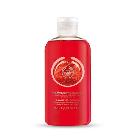 The Body Shop STRAWBERRY SHOWER GEL 250ML A soap-free, non drying cleansing gel. Lathers to leave your skin feeling cleansed, refreshed and scented with the sweet and fruity fragrance of strawberries.