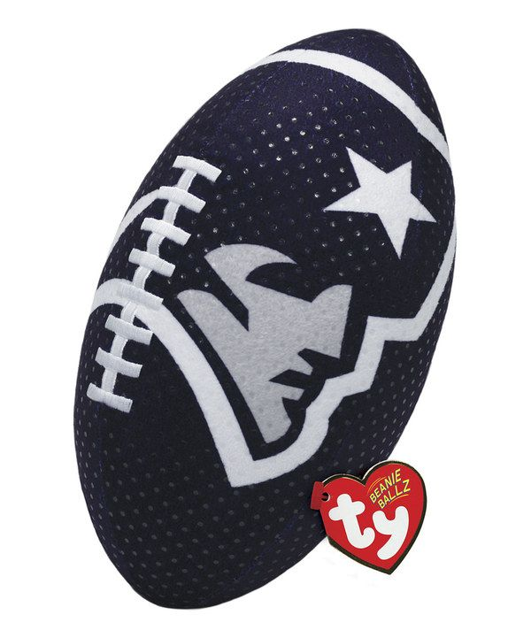 This New England Patriots Rush Zone Beanie Football by Ty is perfect.  http://www.zulily.com/invite/ticklish1025375