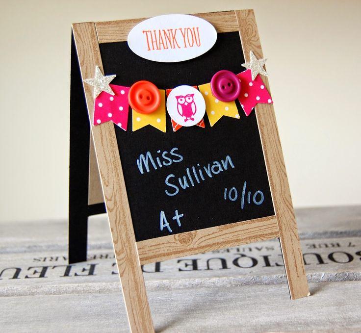 UK Independent Stampin' Up! Demonstrator - Julie Kettlewell: Teacher Chalkboard Cards