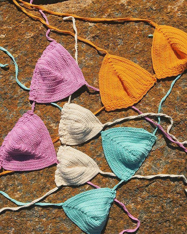 WEBSTA @ ramona.house - Bikinis On The Rocks ☀️🌸💦🐚 #RAMONAbeach #RAMONAcabo #SS17 #summer #collection #top #bikini #sun #colors #aqua #lila #turmeric #ecru #knitwear #crochet #peruvian #cotton #instaknit #handmade #slowfashion #fashion #photography #mood #madewithlove #madeunique #madeinuruguay #beach #cabopolonio #rocha #uruguay