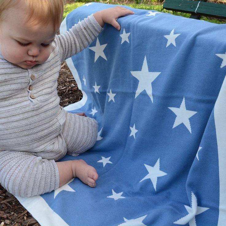 Cotton Knitted Blanket - Stellar Navy