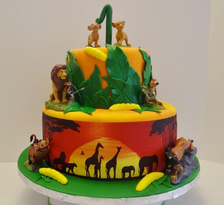 Lion King Birthday Cake cakepins.com