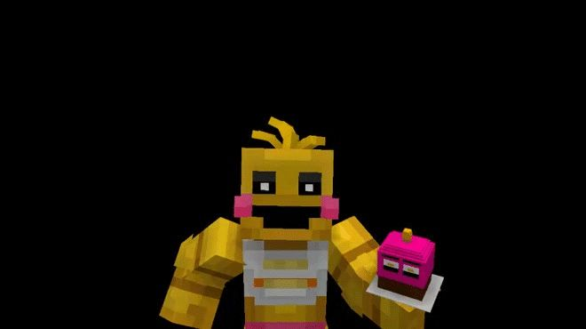 Minecraft Toy Freddy : Toy chica attack minecraft gif by zayco ever riley
