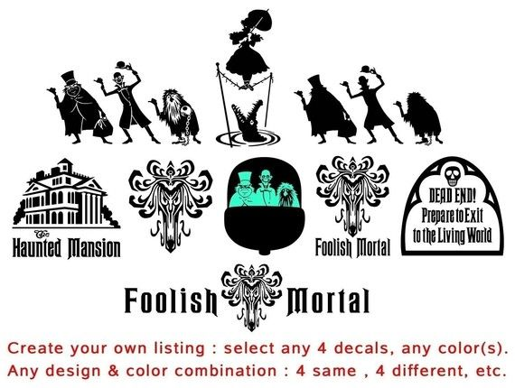 Hey, I found this really awesome Etsy listing at https://www.etsy.com/listing/57468613/create-your-own-haunted-mansion-decal