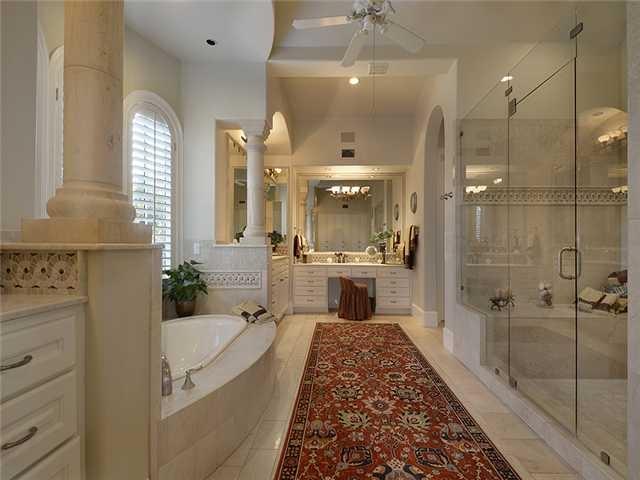 Beautiful White Bathroom With Columns 7850 Escala Dr