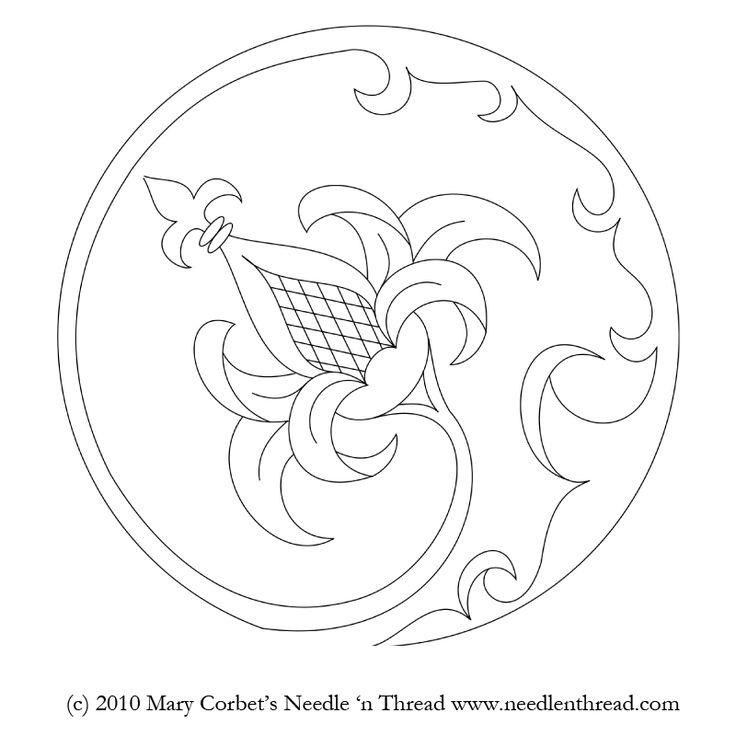 Tambour embroidery pattern. Bordado con ganchillo. Patrón.