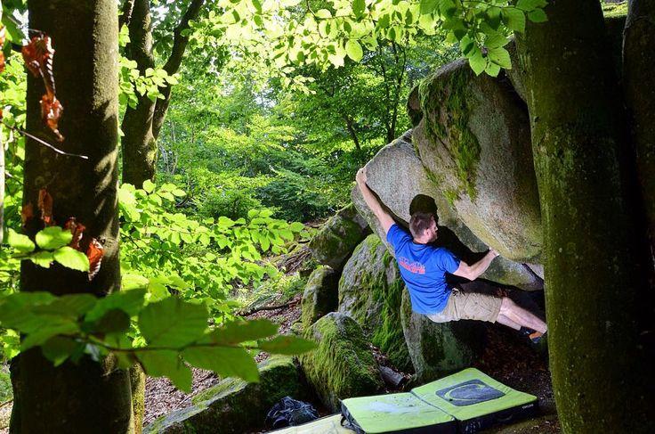 Bouldern im Odenwald - Lützelbach  #bouldern #odenwald #lützelbach