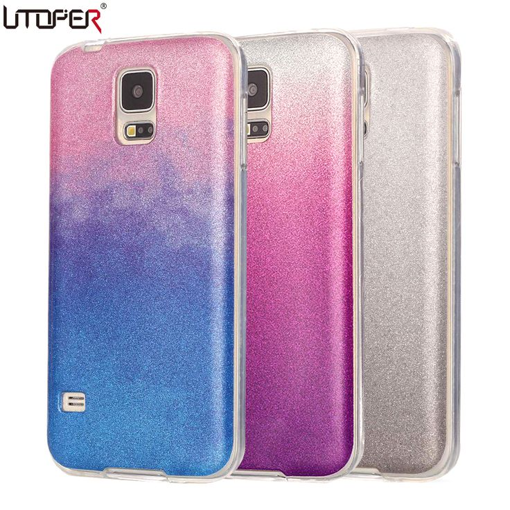 For Galaxy s5 Case Silicon Glitter Ultra Thin Phone Cover For Samsung Galaxy S5 SV I9600 S 5 Luxury Soft TPU Back Shiny Fundas