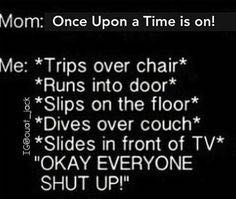 "Me every Sunday!<<I did this and then my sister talked during it so I said, ""Silence antioncer!!!"" And she was quiet."""