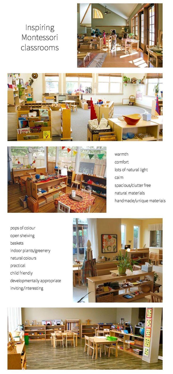 Inspirer Montessori salles de classe
