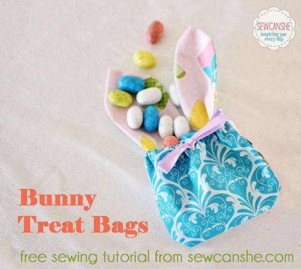 Bunny Treat Bags free sewing tutorial for Easter