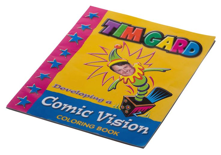 Tim Gard has his own Coloring Book. How funny can you be at work?