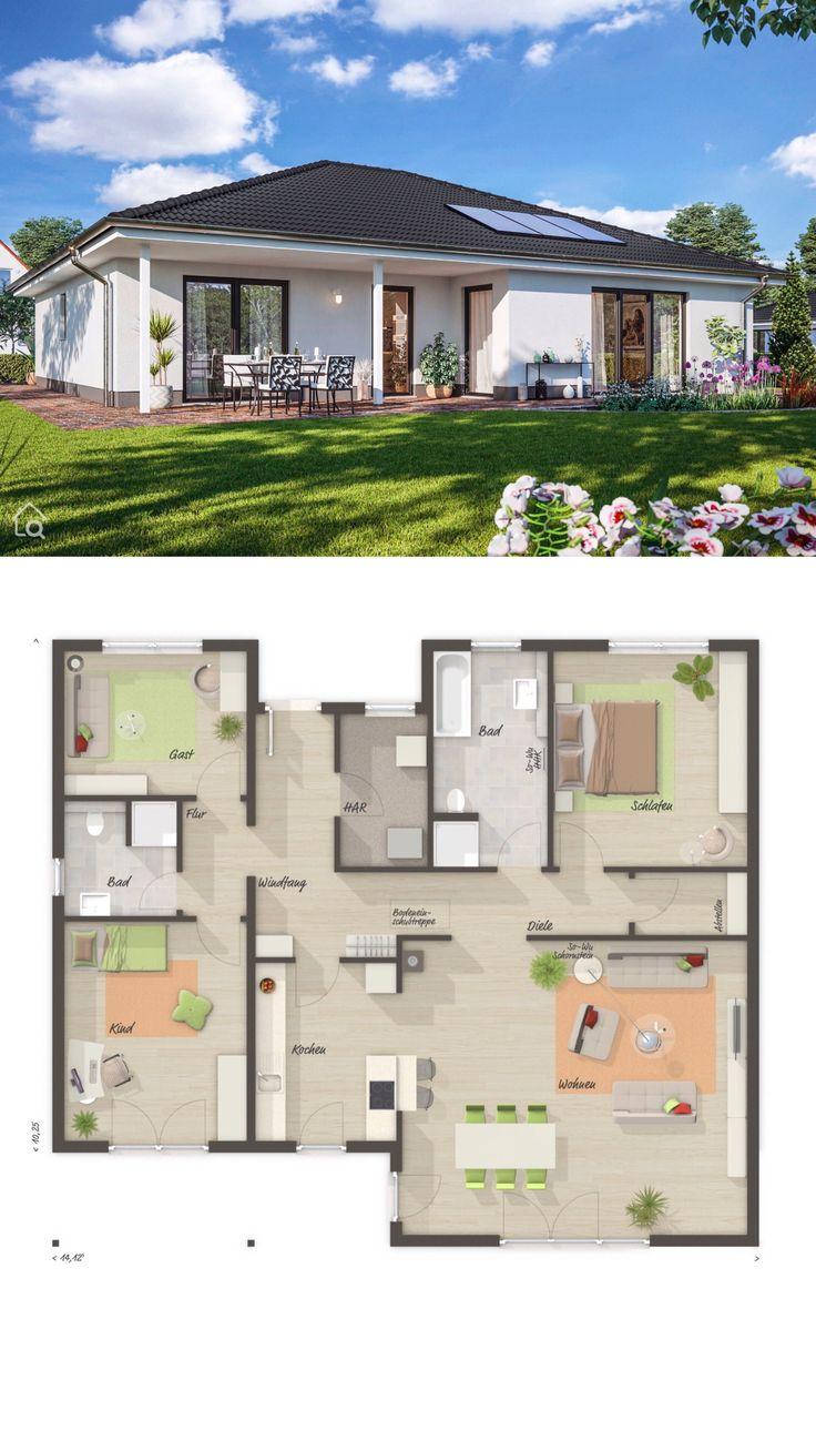 Bungalow Haus mit Walmdach Architektur & 4 Zimmer …
