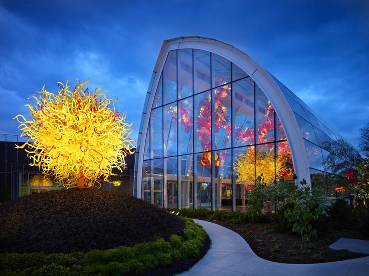 Chihuly Garden and Glass, Seattle Center | Owen Richards Architects, photo by Benjamin Benschneider Photography