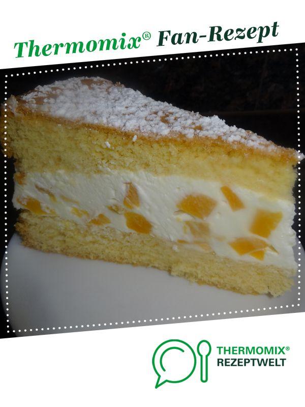 Käsesahne-Torte mit Pfirsichen – einfach und lecker