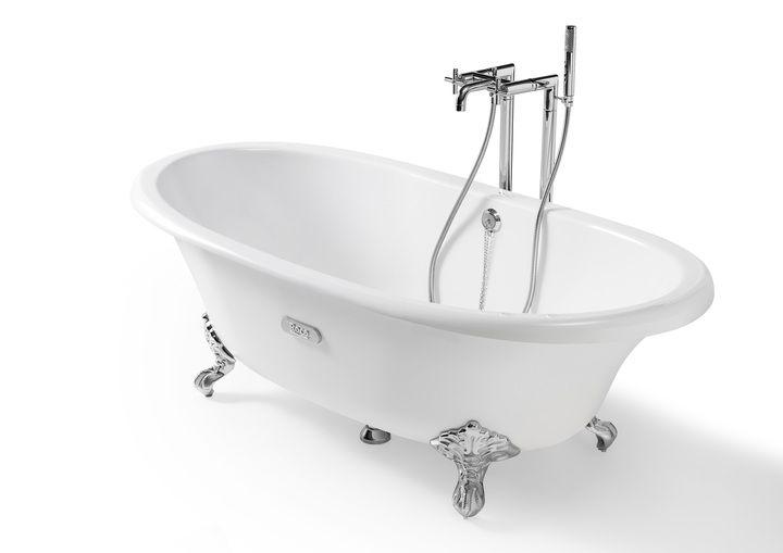 VANY | Litinová smaltovaná vana 170x85 bílá/bílá | Retro koupelna - Specializovaný internetový obchod