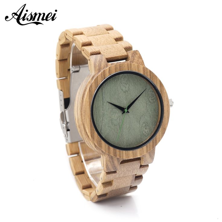 Aliexpress.com : Buy 2016 Mens Top Brand Design Green Wood Dial Full Bamboo Wooden Quartz Watches for Men with Box free shipping from Reliable watch movies mp3 player suppliers on Topsell Fashion Trading CO.,LTD