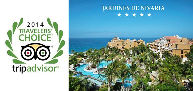 The hotel Jardines de Nivaria belongs to the 25 most romantic hotels of Spain - #Traveler'sChoiceAwards 2014