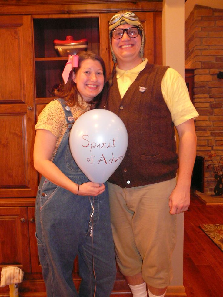 Young Carl and Ellie Halloween Costumes from Up  Wonderfully Made    Young Carl And Ellie Costumes