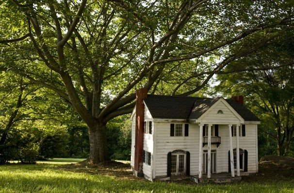A large doll house in the backyard. At Castleton Farms in Rappahannock County, VA. (Jatherine Frey, The Washington Post)