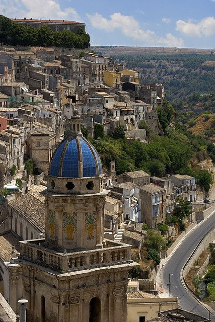 The old town of Ragusa , province of Ragusa , Sicily region Italy