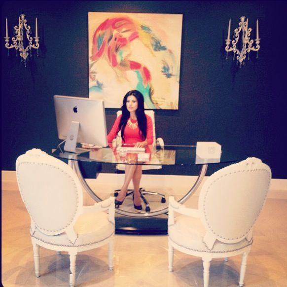Feminine Office Space | feminine entrepreneur office space | eclectic interior: rooms