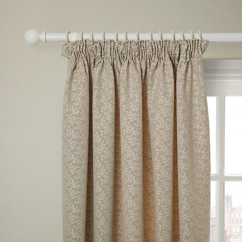 how to put pencil pleat curtains on a pole