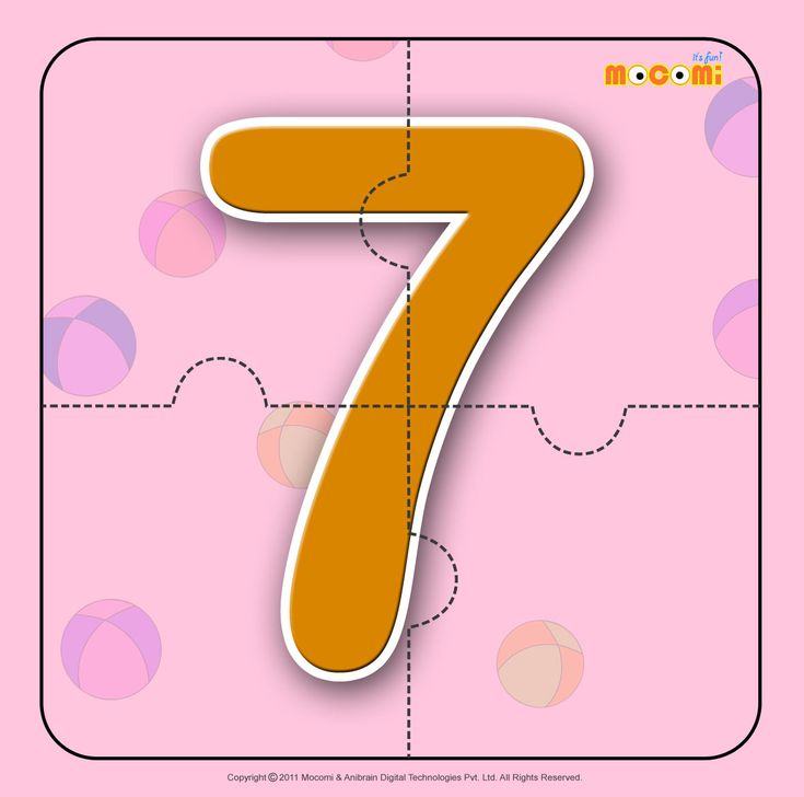 Number – Seven 7 – Easy online, free to download, number #jigsawpuzzles tied to lesson plans and printable activities for pre-schoolers, kindergarden and early elementary. More such informative posts at http://mocomi.com/fun/arts-crafts/printables/jigsaw-puzzles/