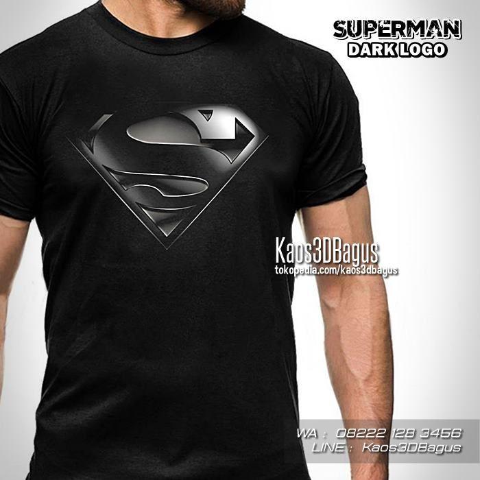 Kaos Superman Superman Logo Man Of Steel Kaos