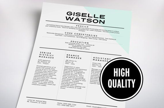 Classy resume cover letter template no 5 by for Classy resume templates
