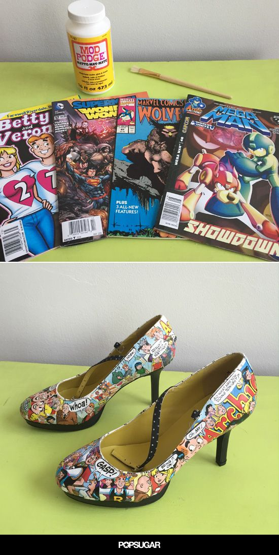 Have a lot of old comic books laying around? Here's a neat DIY that will upgrade your shoe game!