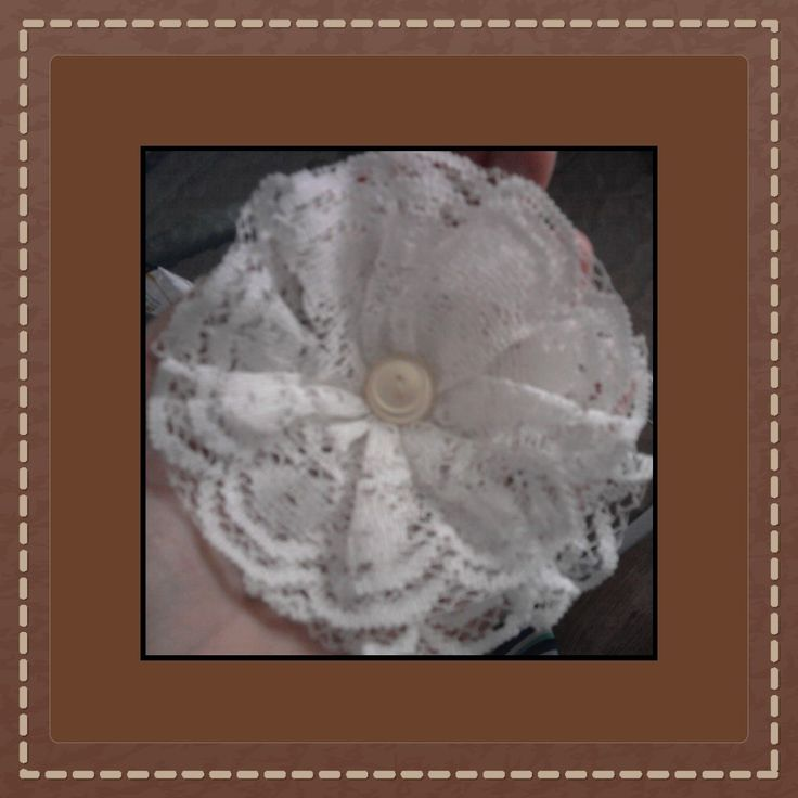 Lace brooch - Csipkés kitűző.