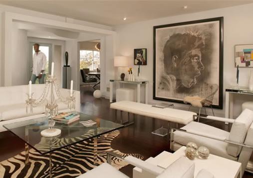 Black And White Modern Living Space Zebra Cowhide Rug
