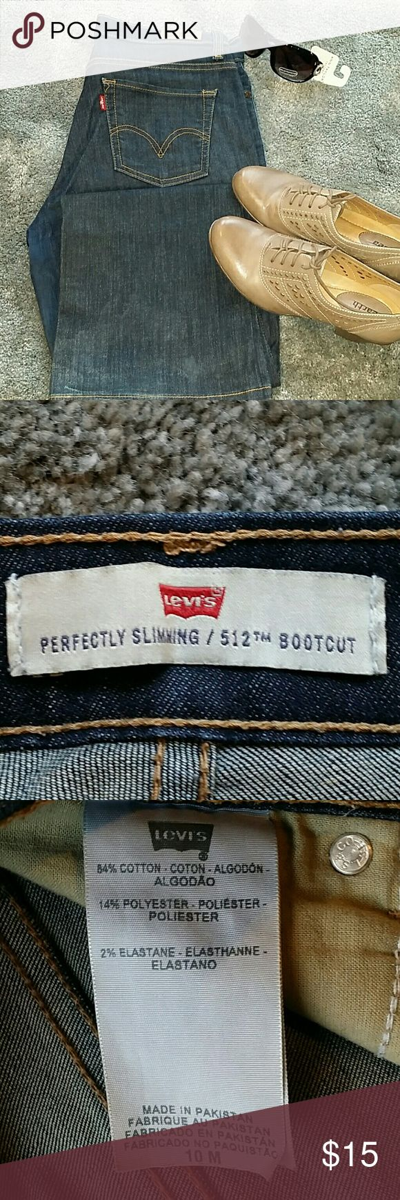 Levis 512 boot cut jeans 10M From perfectly slimming series, boot cut jeans, gently worn, No trades ?? Discount with bundles Levi's Pants Boot Cut & Flare