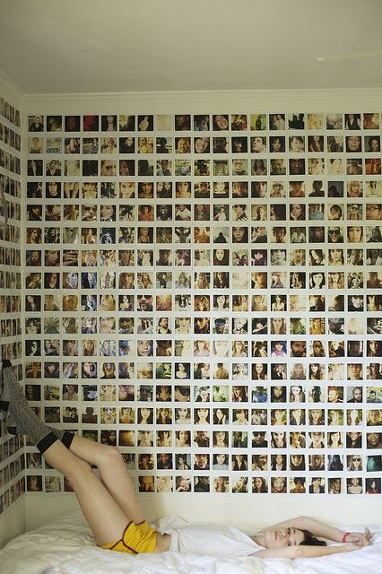 polaroid wall.