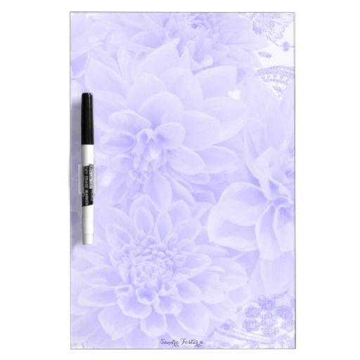 Dahlias In Blue Dry Erase Whiteboard