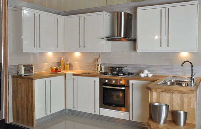 Simple Kitchen Hanging Cabinet Designs simple cream high gloss kitchen planning ideas hanging kitchen