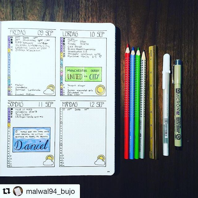 Beautiful #dailies from @malwal94_bujo #Repost @malwal94_bujo (via @repostapp) ・・・ Some memories from this weekend. :soccer: City won over United yesterday :pray: