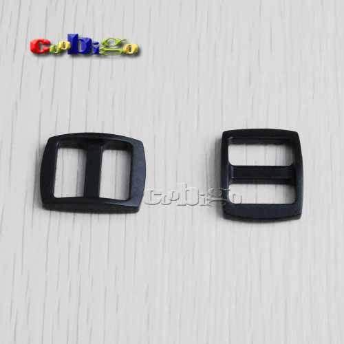 """100pcs Pack 5/8""""Plastic Black Slider Tri Glide Adjust Buckles Wider Style Backpack Straps Webbing 16mm #FLC060 B1-in Bag Parts & Accessories... $11.99"""