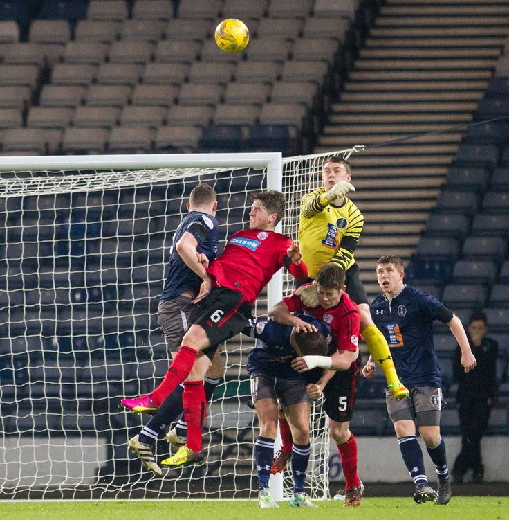 Queen's Park's Wullie Muir in action during the Ladbrokes League One game between Queen's Park and Brechin City.